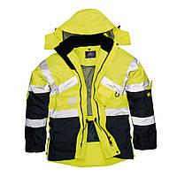 Куртка сигнальная S760 XL, желтый/темно-синий