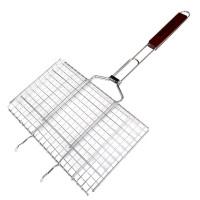 Решетка для гриля двойная GRILL ME BQ-037 (35x21см), хромированная