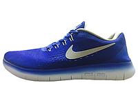 Кроссовки мужские  Nike Free Run Flyknit V.1 Blue White
