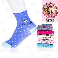 Качественные носки подростковые для девочки в горошек Малыш C-221 (12 ед. в упаковке)