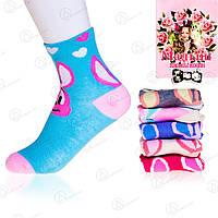 Недорогие носки подростковые для девочки с узором Малыш C-219 (12 ед. в упаковке)