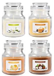 Свічки ароматичні у скляних баночках з кришечкою