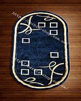 Яркий коврик на пол для дома синего цвета 3016