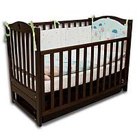 Кроватка детская с маятниковым механизмом Соня ЛД-7 Верес, орех