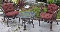 Комплект мебели для сада или террасы из натурального ротанга