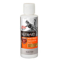 Масло лосося Nutri-Vet Wild Alaskan Salmon Oil для кошек, 118 мл