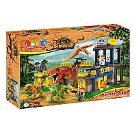 Конструктор JDLT 5243 динозавр, будівля, фігурки, 135 дет., кор., 60-45-12,5 см. (BOC081101)
