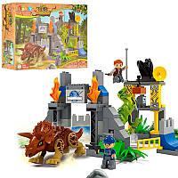Конструктор JDLT 5245 динозавр, будівля, фігурки, 106 дет., кор., 48-37-12,5 см. (BOC081102)