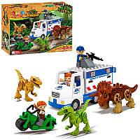Конструктор JDLT 5248 динозаври, машина, мотоцикл, фігурки, 35 дет., кор., 37-28,5-10 см. (BOC081104)