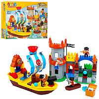 Конструктор JDLT 5271 пірати, замок, корабель, фігурки, 162 дет., кор., 64-48-11 см. (BOC098778)