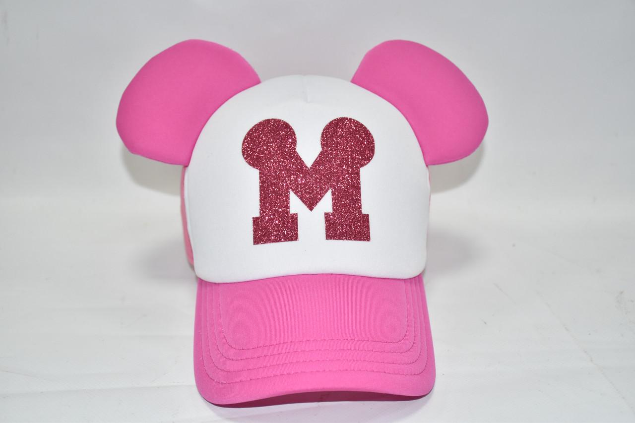 Розовая кепка с ушками Мини Маус