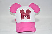 Розовая кепка с ушками Мини Маус , фото 1