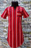Детское летнее платье в полосочку, р. 116-134, т. красное