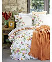Комплект постельного белья с пледом пике KARACA HOME Paradisе orang