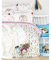 Комплект постельного белья с пледом пике KARACA HOME Nora