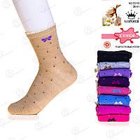 Китайские носки для девочки-подростка с узором Корона C-3115
