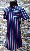 Детское летнее платье в полосочку, р. 116-134, цветная полосочка