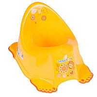 Горшок антискользящий Tega Baby  FOLK Fl-001 желтый