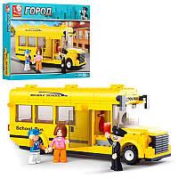 Конструктор M38-B0507 місто, шкільный автобус, фігурки, 219 дет., кор., 33-24-5,5 см (BOC075556)