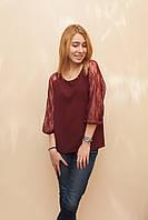Женская блуза-реглан из крепа
