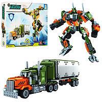 Конструктор 25814 2 в 1 трейлер, робот, 607 дет., кор., 47-35-6,5 см (BOC069683)