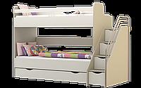 Кровать 2-ярусная с лесницей Лимпопо