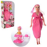 Кукла 6026D беременная 29см,дочка10см,пупс,бутылочка, ходунки,микс видов,в кор-ке,15-31,5-6см