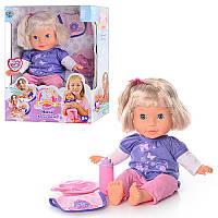Кукла 5375 Мила, звук(рус), реагирует на аксессуары, 35см, на бат-ке, в кор-ке, 35,5-28-12,5см