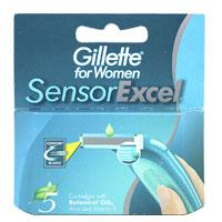 Gillette Картриджи женские Sensor Excel 5шт
