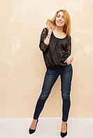 Женская блуза-реглан из шёлка