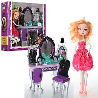 Мебель 1201A EAH, кукла, 27см, шарнирная, трюмо, стульчик, аксессуары, в кор-ке, 31,5-29-8см