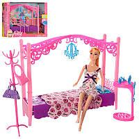 Мебель LH028-2 спальня, кровать30см,кукла 28см,аксессуары,в кор-ке,38,5-29-10см