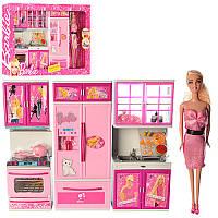 Мебель X221C13 BR,кухня,звук,свет,кукла29см,посуда,продукты,2вид,на бат,в кор,54-35,5-9,5см