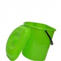 Ведро пристенное для мусора с крышкой 12л Л