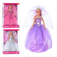 Кукла DEFA 8253 на подставке, расческа, туфли, 3 цвета, в кор-ке, 33-22-5,5см