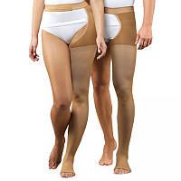 Моночулок женский компрессионный лечебный,1 класс компрессии (черный, беж.) правый/левый. Без носка