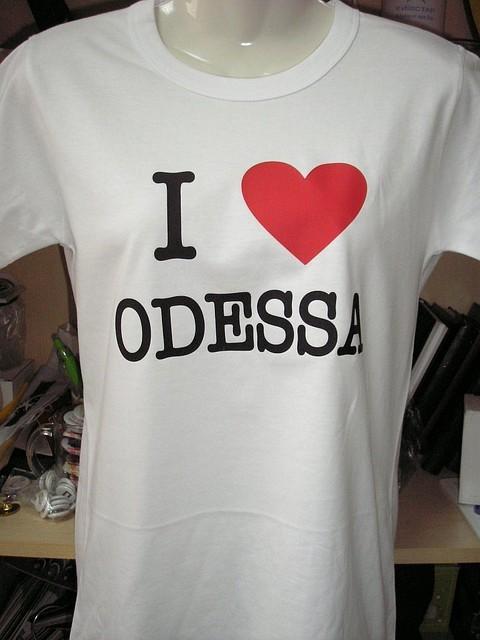 Футболка I Love Odessa