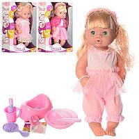 Кукла R31000A5-A10-B4 37см,горшок,тарелка,каша,соска,бутыл,зв,бат(таб),3вида,в кор,27-40-12см