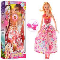 Кукла YP8303AB 30см, муз, свет, сумочка, расческа, 2 цвета,на бат-ке(табл),в кор-ке,15-33-5см