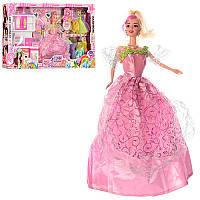 Кукла с нарядом 9374C 28см, мебель(кухня), платья 10шт, аксессуары, в кор-ке, 62-34-7см