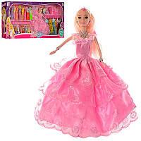 Кукла с нарядом 975-6 28см, платья 18шт,мебель,аксессуары, в кор-ке,90-35-8cм