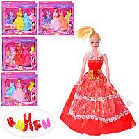 Кукла с нарядом M 0326 U/R Дженнифер, 27см, обувь, 4 цвета, в кор-ке, 51-40,5-2,5см
