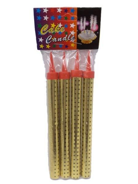 Фейерверк для торта Золото 15 см 4 шт