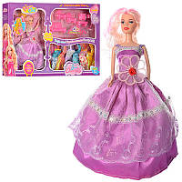 Кукла с нарядом Y741B 29cм, платья 7шт, мебель, расческа,микс цветов, в кор-ке, 61-36-5,5см
