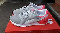 Подростковые+женские кроссовки Puma серые с розовым