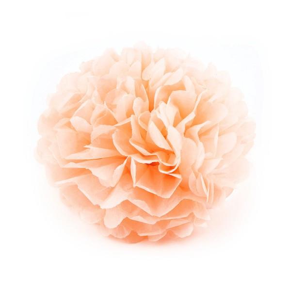 Помпон тишью персиковый 25см