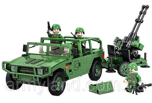 ГАЗ c Зенитной установкой военный конструктор  , фото 2