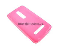 Накладка (силикон) POUCH Nokia Asha 210 pink