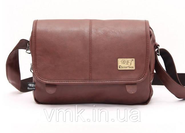 Чоловіча сумка Three Box. З червоним відтінком - Ваш магазин.Киев в Киеве f4df79891e624