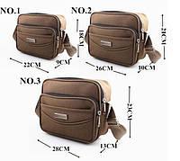Мужская тканевая сумка. Размер 26-21-10 см